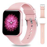 NAIXUES smartwatch, orologio fitness donna 1,54 pollici impermeabile ip68 smart watch bluetooth cardiofrequenzimetro da polso contapassi calorie smartband activity tracker per android ios (rosa)