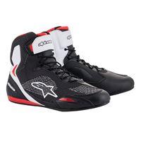 ALPINESTARS scarpa faster-3 rideknit nero rosso bianco - ALPINESTARS