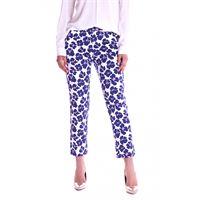 LUCKYLU MILANO pantalone luckylu a fiori blu