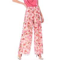 LUCKYLU MILANO pantalone palazzo luckylu a fiori rosa