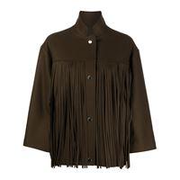 Roseanna giacca con frange bauhaus - marrone