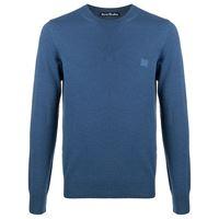 Acne Studios maglione con applicazione face - blu