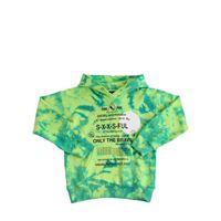 DIESEL KIDS felpa in cotone tie dye con cappuccio