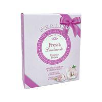 Perlier fresia - cofanetto sapone liquido 300ml + crema mani 100ml