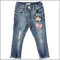 DODIPETTO jeans lungo con toppe 5u223 bambina DODIPETTO