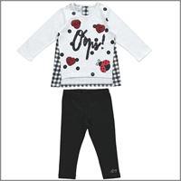 DODIPETTO completo maxi maglia leggings 5w247 bambina DODIPETTO