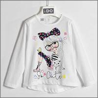 IDO t-shirt manica lunga girocollo 4w021 bambina IDO