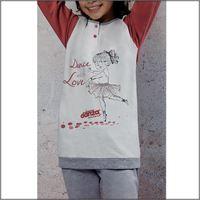 DIMENSIONE DANZA pigiama in felpa di cotone 22064 da bambina DIMENSIONE DANZA