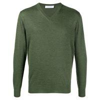 Cruciani maglione con scollo a v - verde