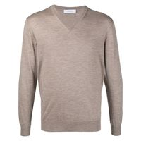 Cruciani maglione con scollo a v - toni neutri