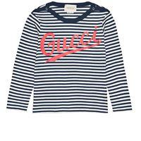 Gucci - t-shirt a righe con logo 12-18 mesi