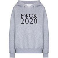 Ashish felpa con cappuccio f*ck 2020 - grigio
