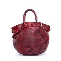 Majo borsa con doppio manico in pelle rossa