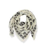 ALEXANDER MCQUEEN foulard in misto seta stampata