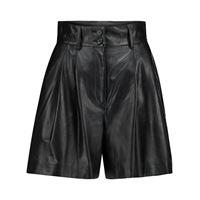 Dolce & Gabbana shorts a vita alta in pelle