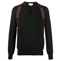 Alexander McQueen maglione con scollo a v - nero