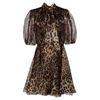 Dolce & Gabbana miniabito a stampa in organza di seta