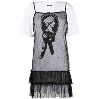 McQ Swallow vestito modello t-shirt - bianco