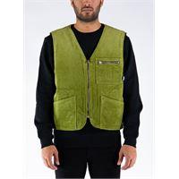 STÜSSY smanicato wide wale reversible vest uomo