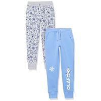 Spotted Zebra disney star wars marvel princess fleece jogger sweatpants pants, confezione da 2 sorelle di frozen, 4 anni