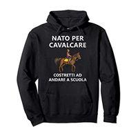 Cavallo Maglietta per i Cavalieri cavallo cavalli cavalcare ragazza bambino regalo cavalieri felpa con cappuccio