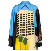 LOEWE x ken price - camicia a stampa in seta