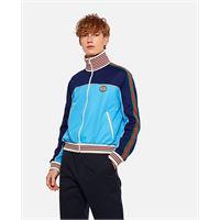 Gucci giacca in jersey tecnico con zip e nastro web