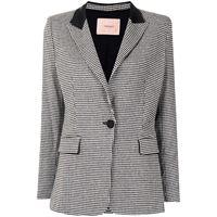 TWINSET blazer con motivo pied-de-poule - 5613 black