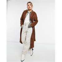 New Look - cappotto lungo color cuoio con cintura