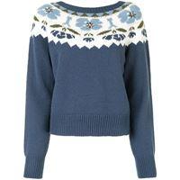 TWINSET maglione a fiori - blu