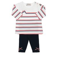 MONCLER t-shirt e leggings in jersey di cotone