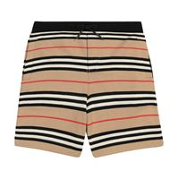 Burberry Kids shorts a righe in cotone