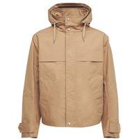 AMI ALEXANDRE MATTIUSSI giacca in tela di cotone con cappuccio e zip