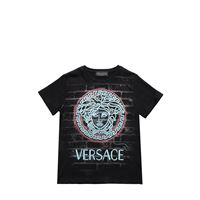 VERSACE t-shirt in jersey di cotone stampato
