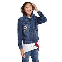Desigual jacket mickey giacca, blu (denim light wash 5007), 164 bambina