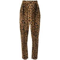 Khaite pantaloni con stampa the magdeline - multicolore