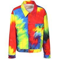 ALEXANDRE VAUTHIER giacca in denim di cotone tie dye