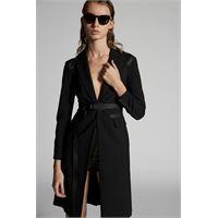 Dsquared2 donna vestito nero taglia 38 95% lana vergine 5% elastan
