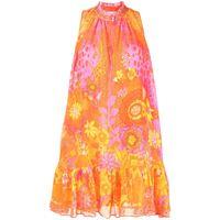 Camilla vestito corto svasato - arancione