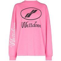 We11done t-shirt a maniche lunghe - rosa