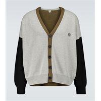 LOEWE cardigan color-block in lana