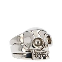 ALEXANDER MCQUEEN anello uomo 554499j160y0446 metallo argento
