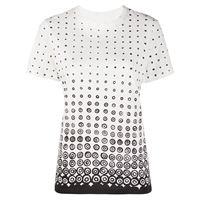 10 CORSO COMO t-shirt a pois - bianco