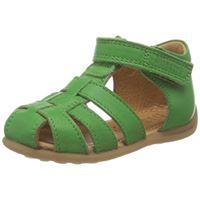 Bisgaard carly, sandali unisex-adulto, green, 23 eu