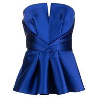 Alberta Ferretti top smanicato - blu