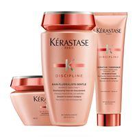 Kerastase trio discipline fluidealiste shampoo + maschera + trattamento