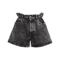 Miu Miu shorts denim a vita alta - nero