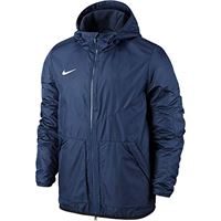 Nike team fall jacket youth, giacca sportiva unisex per bambini, obsidian/dark obsidian/white, s