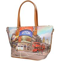 WHY NOT? y?Not y not?Donna borsa shopping con tracolla shopping bag l397 prince