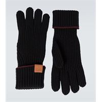 LOEWE guanti in lana con logo